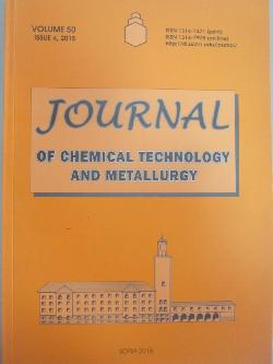 Journal of chemical technology and metallurgy. Volume 50. Issue 4, 2015, колектив