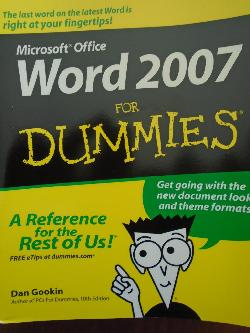 Microsoft Office Word 2007 for Dummies, Dan Gookin