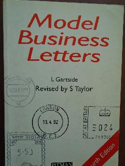 Model Business Letters, L.Gartside