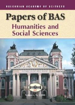 Papers of BAS Humanities and Social Sciences Vol. 3, No 1, 2016, Колектив