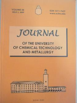 Journal of the university of chemical technology and metallurgy. Volume 44. Issue 2, 2009, колектив
