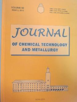 Journal of chemical technology and metallurgy. Volume 50. Issue 2, 2015, колектив