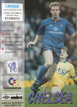 Chelsea FC vs Everton Programme 28 September 1991, Колектив