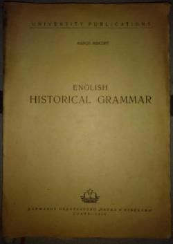 ENGLISH HISTORICAL GRAMMAR, Marco Mincoff