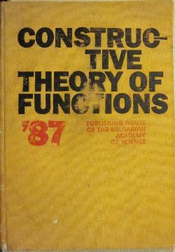 Constructive Theory of Functions`87, Сборник