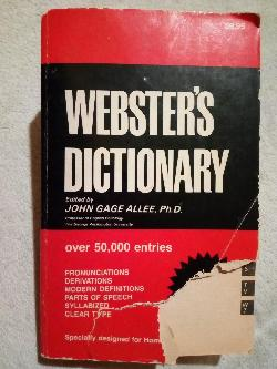 Webster's dictionary, John Gage Alee,Ph.D